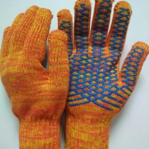 Перчатки трикотажные с ПВХ Крис-кросс